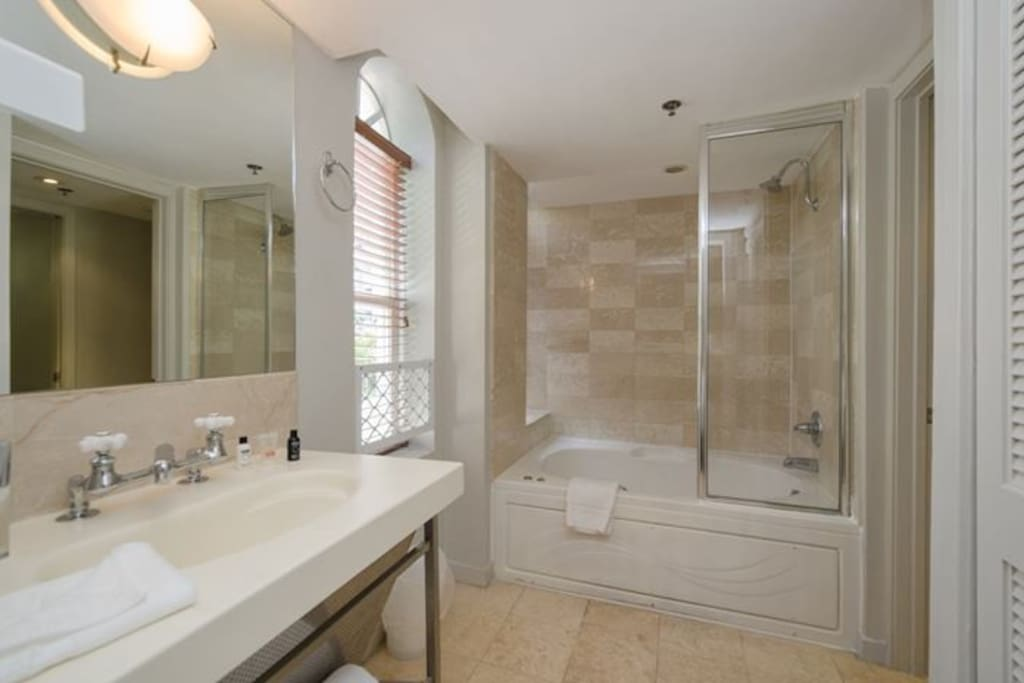 Bathroom with tub/shower combo
