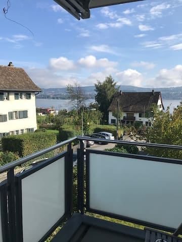 Appartement with a view of the lake in town