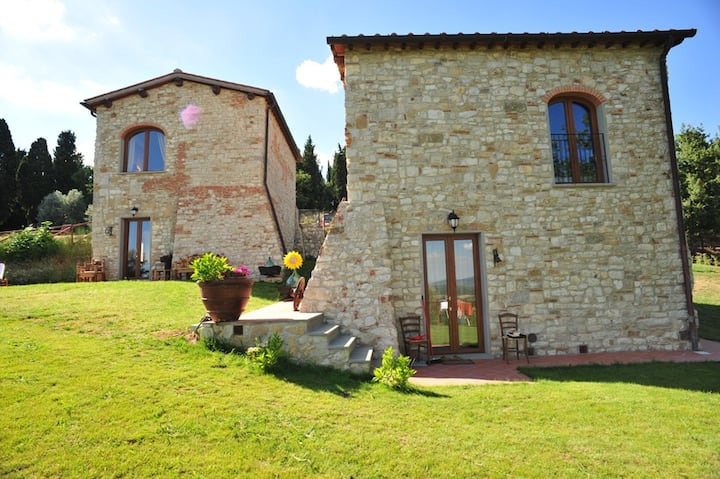Loft2 with Swimming Pool View on the Chianti Hills