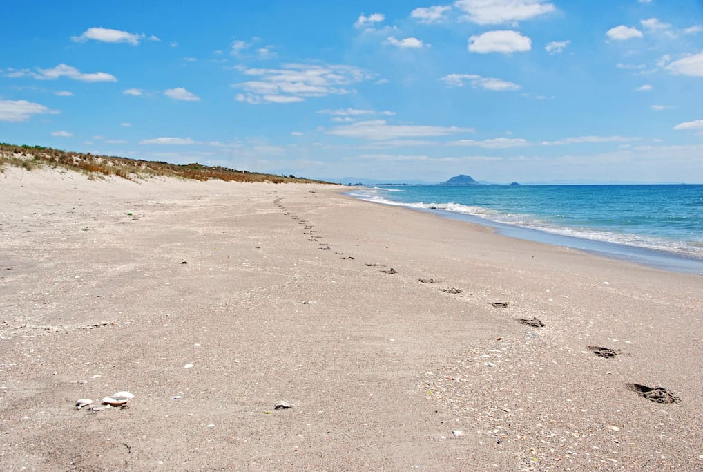 Papamoa beach a short walk away. Looking towards the mount.