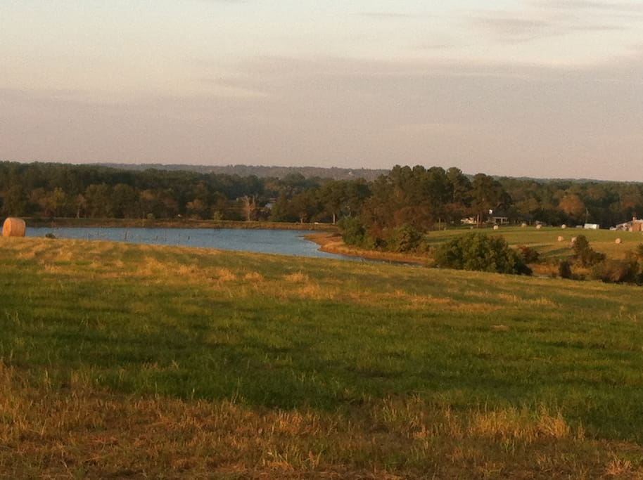 View of the 30 acre lake from the highest point on the property