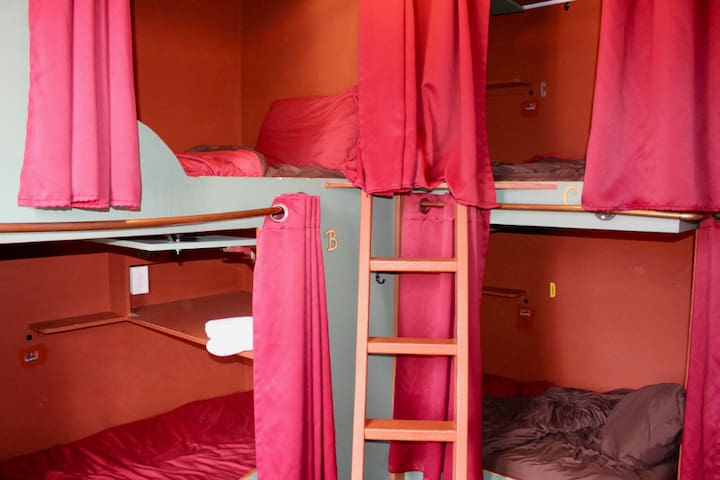 Private 4-Bunk Room at the Historic Redlight