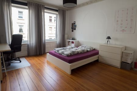 Bright spacious room in the city center - Hambourg - Appartement