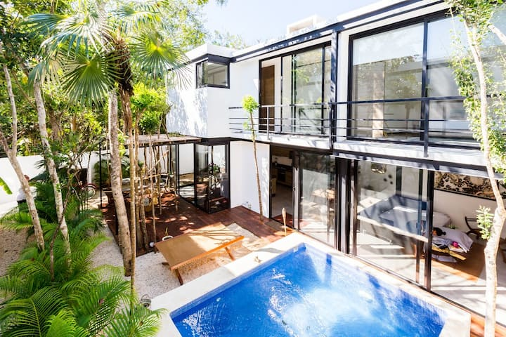 MUN TULUM⭐️Gorgeous Jungle house⭐️with PRIVATE POOL⭐️