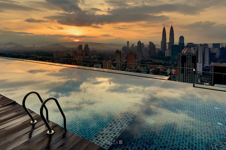 Kuala Lumpur Rooftop Infinity pool, cozy studio - Kuala Lumpur - Apartment