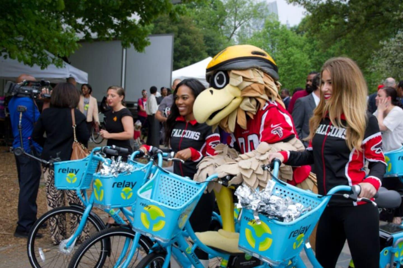 Atlanta Falcon Cheer leaders having fun at the park, few clicks away from home.