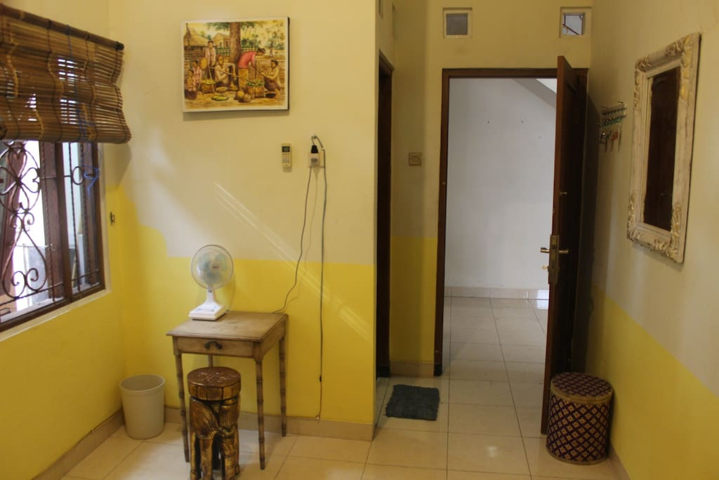 Your room with privat bathroom (shower and toilet).