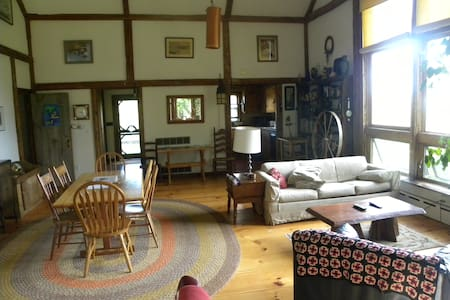 Scenic Windjammer Barn, view Penobscot Bay - Lincolnville