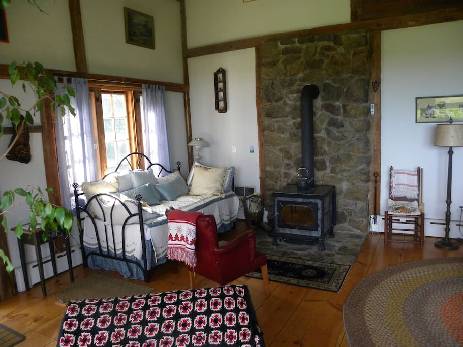 A great wood stove for heat or watching a fire