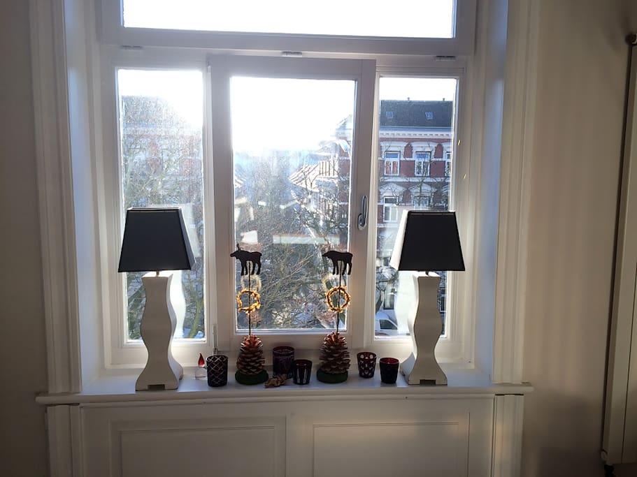Blick auf Eppendorfer Altbauten
