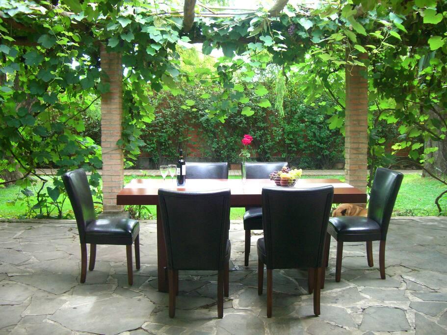mesa comedor de exterior