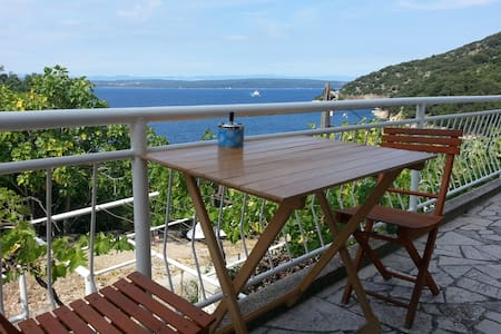 Sea view apt. on Island Cres, Merag - Cres