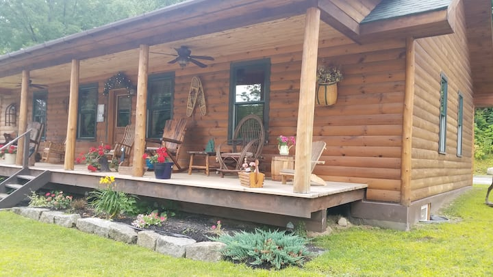 NEW RIVERFRONT ADIRONDACK LOG HOME!