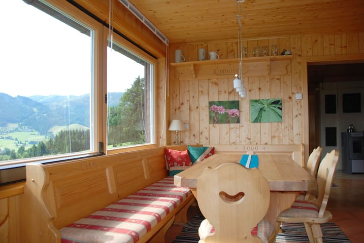 Wohnraum mit Panoramablick / Living room with  panorama view