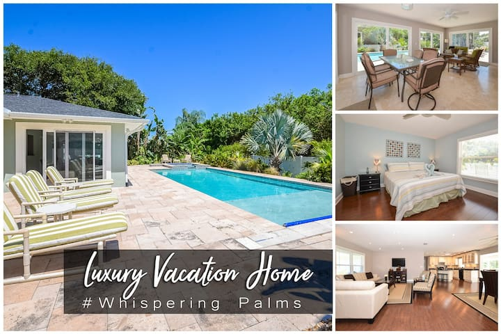 Whispering Palms -Beach-Side Pool Home - 4BR/2.5BA