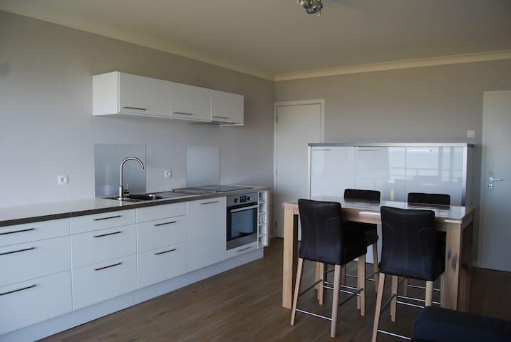 nieuwe studio aparte slaaphoek, frontaal zeezicht - De Panne - Apartament