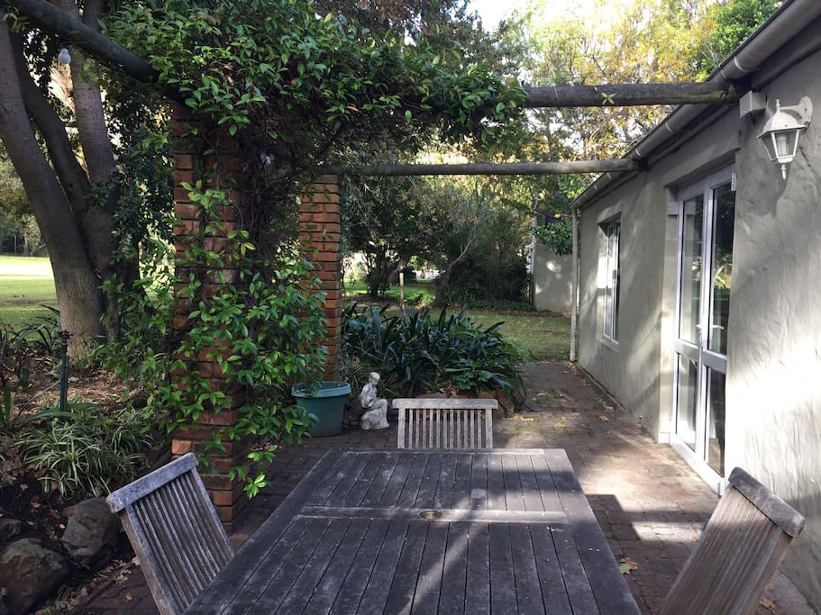 Private shady terrace for bbq's and alfresco dining