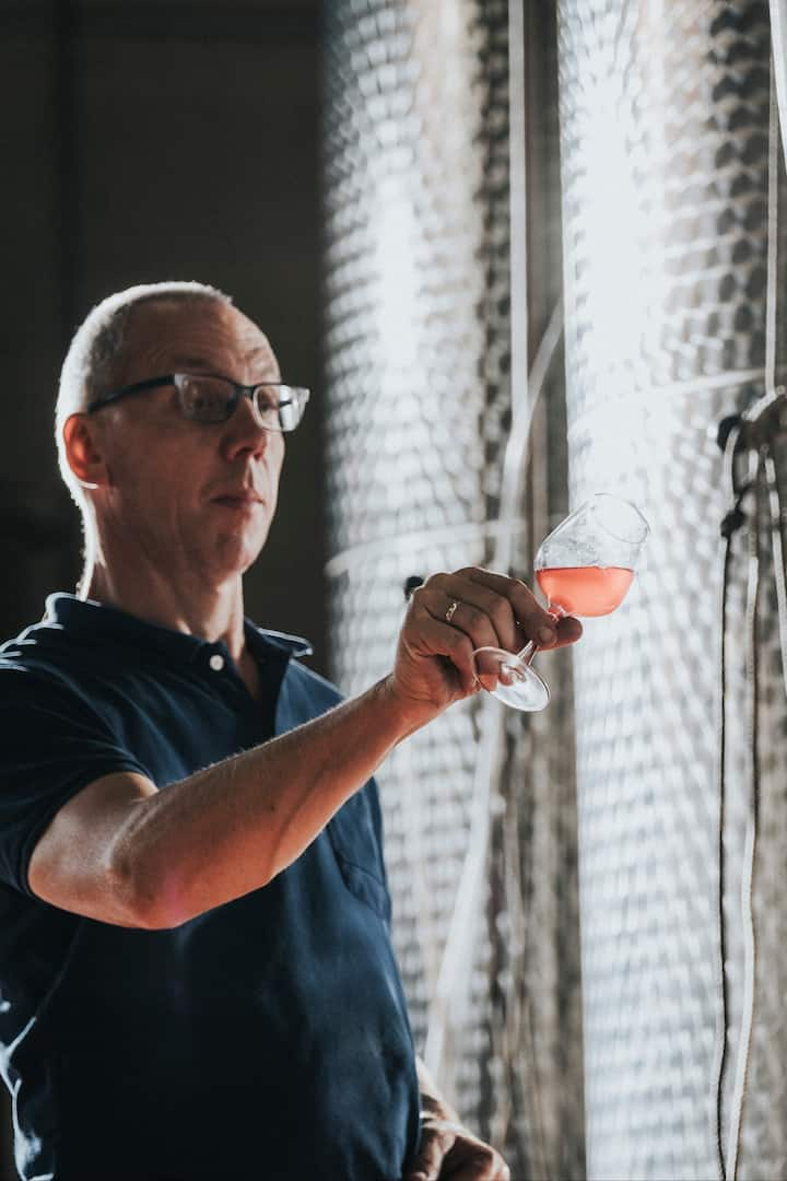 John Huisman, owner, in the Winery