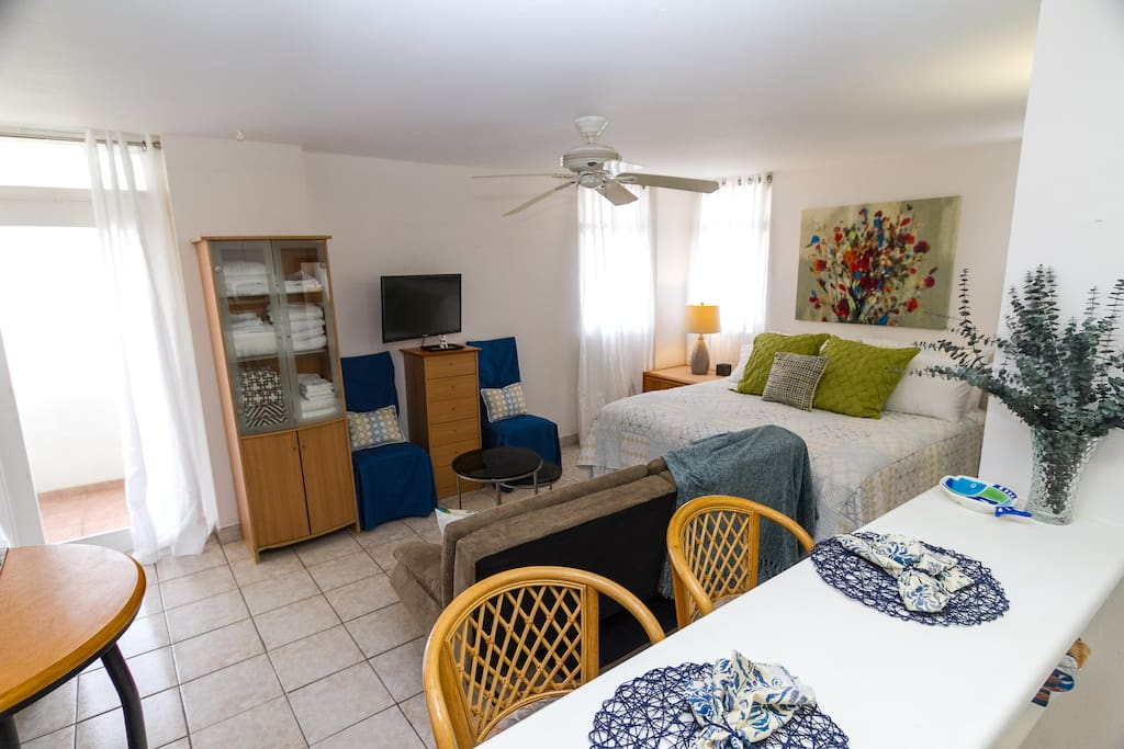 Comfortable accommodations for up to four people