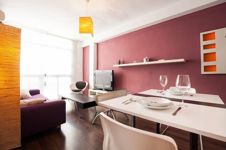Apartamento Luminoso Wi-Fi Centro - Almería - Daire