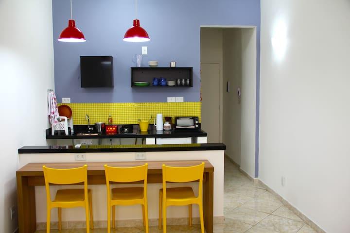 Studio am Bahnhof, Innenstadt von Rio.