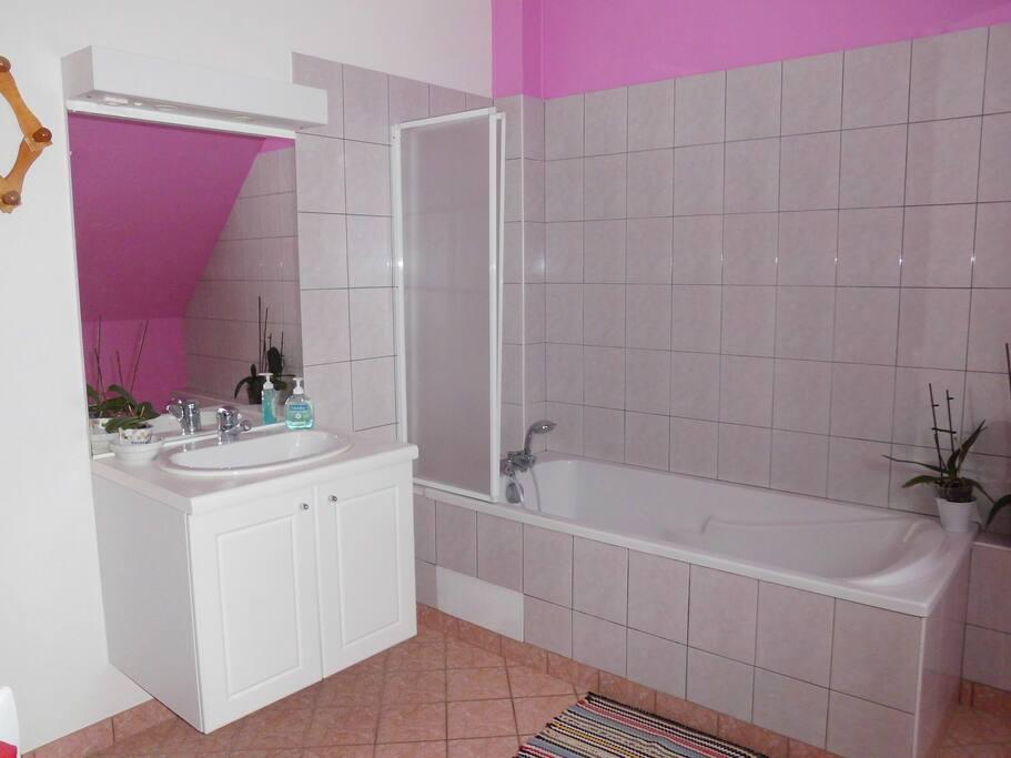 Salle de bains réservée aux hôtes