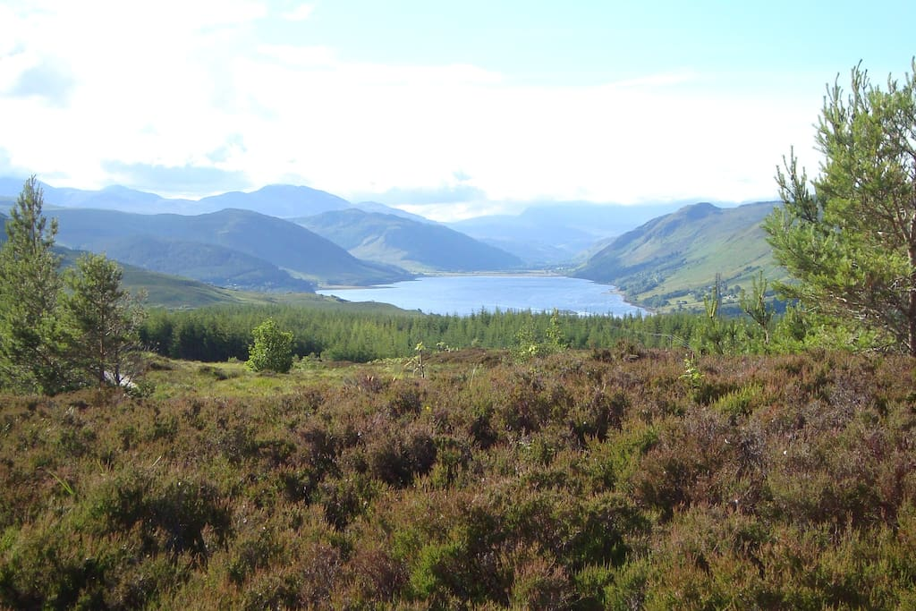 Several Munro's and Loch Broom, from walk behind the house.