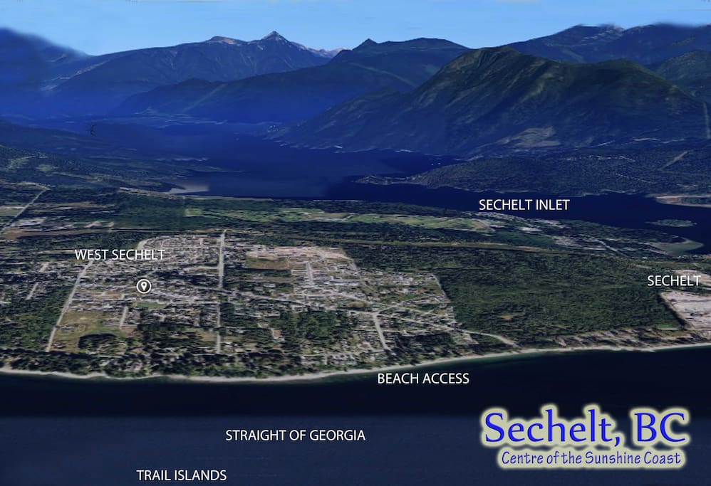 Location in West Sechelt