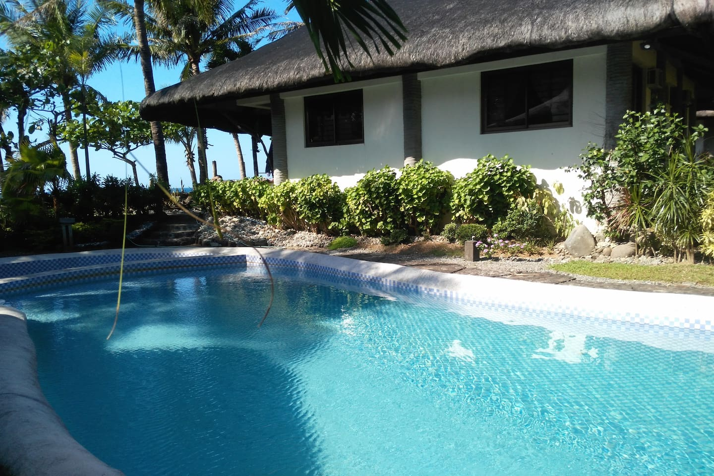 Beachfront house with private pool.