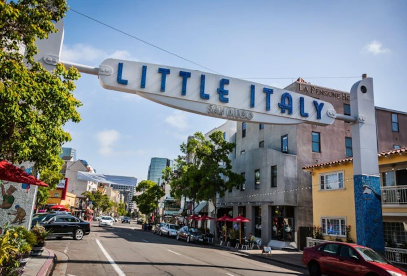 In the center of trendiest neighborhood of San Diego