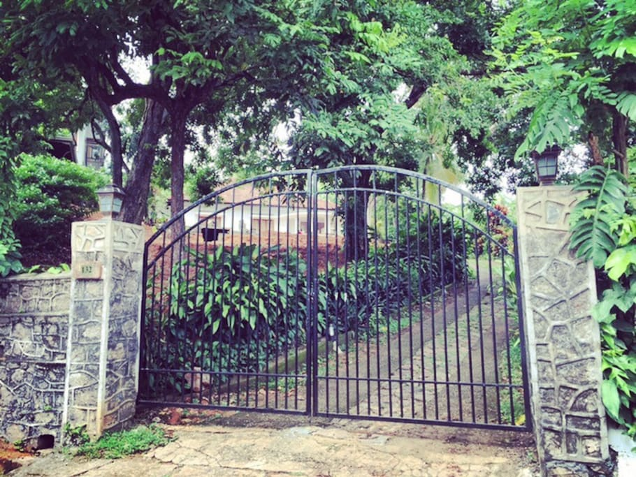 Secure, gated entrance