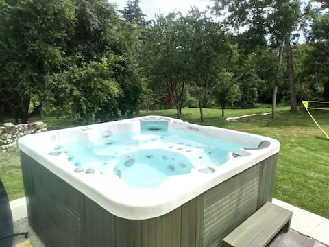 JACUZZI 5 Pers., House 6 Pers.,Natur og ro