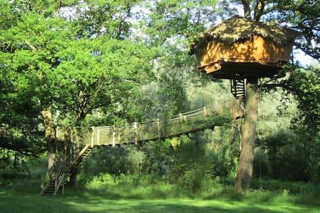 Cabane Spa Refuge pour 2 personnes - Chassey-lès-Montbozon - Dům na stromě