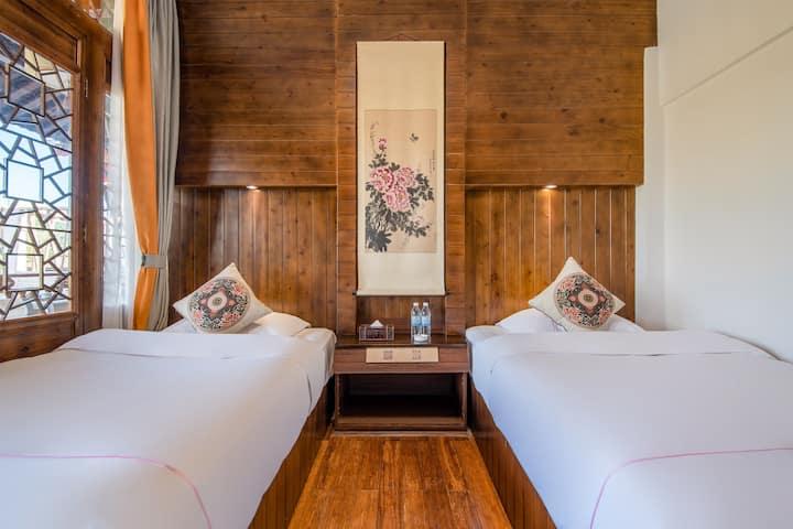 【迎荷】和顺野鸭湖附近观景双床房,含早,带空调,免费接机接站
