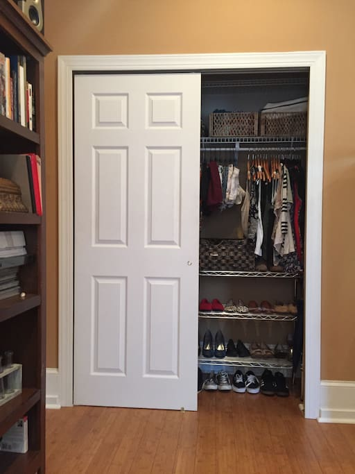 There's also ample closet space! My clothes will be packed away to make room for yours :)