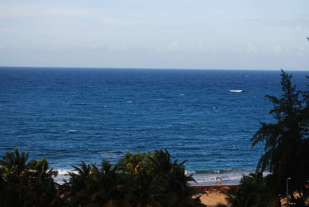 The ocean and beach from your  balcony