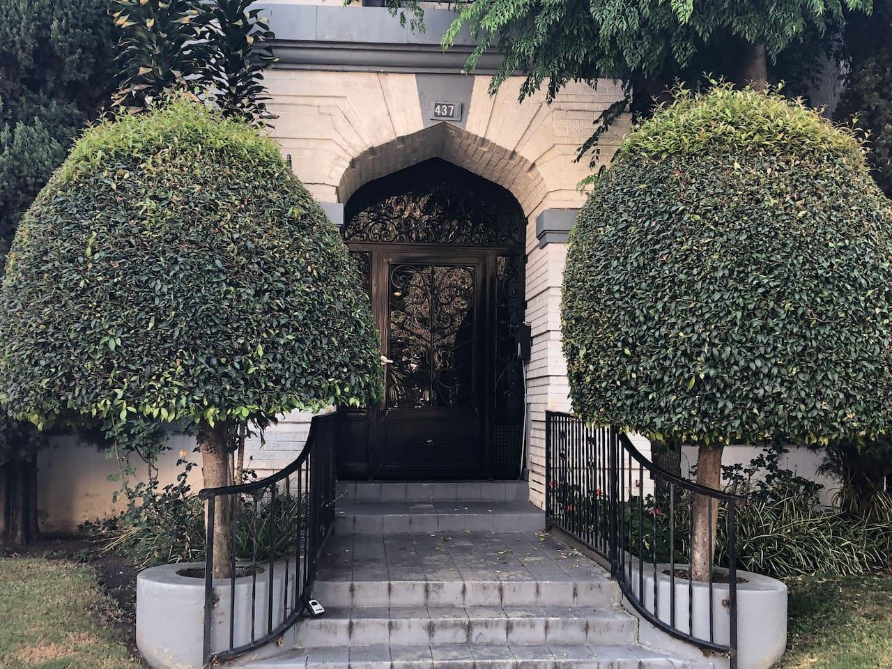 Front entrance secured