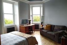 Beautiful bright master bedroom