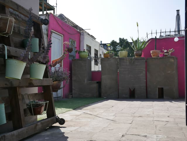 artistic rooftop in Lima