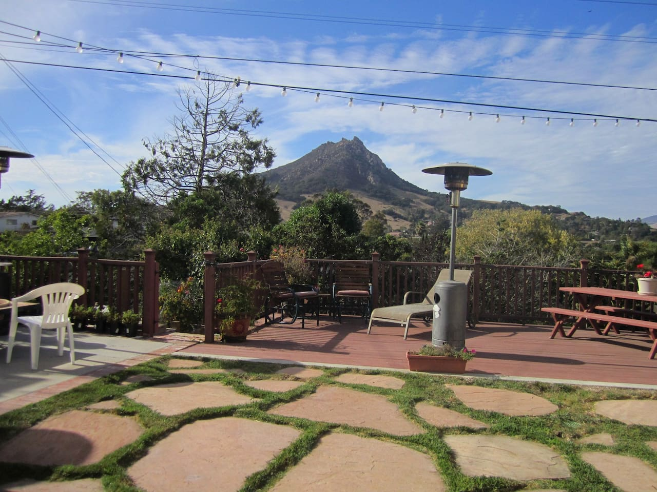 Relax on the deck and enjoy the views of Bishop's Peak