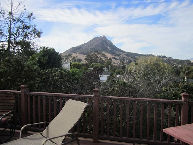 Bishop's Peak is 1546 feet in elevation and over looks all of the nine sisters in the valley