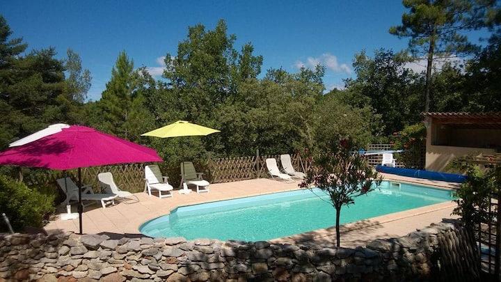 Gîte avec piscine Verdon/Gréoux/Lac Esparron