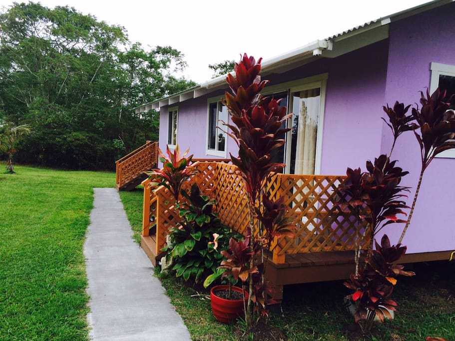 Lavender Orchid walkway and entrances
