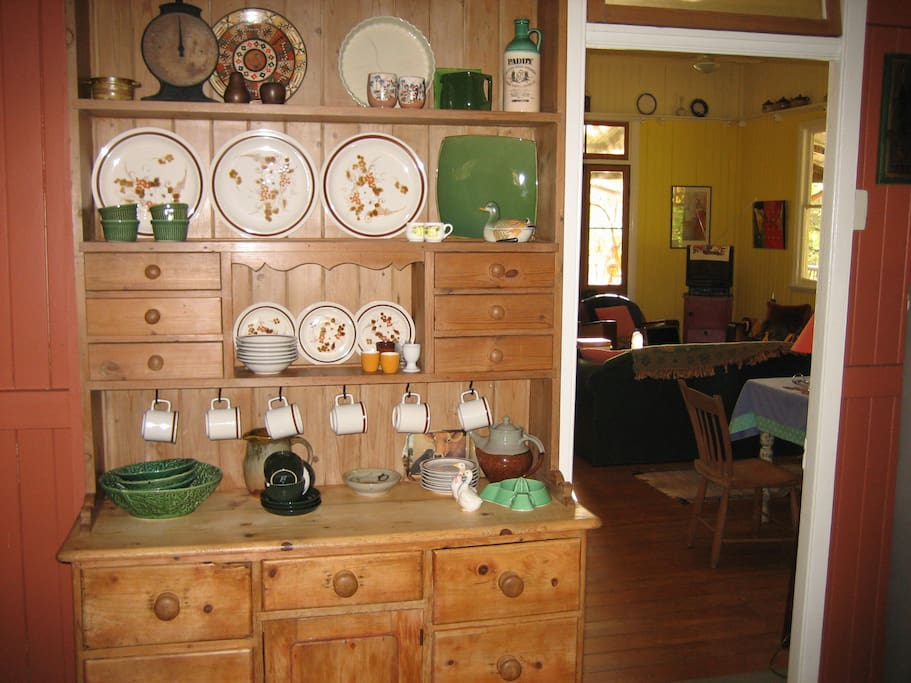 Antique dresser in the kitchen