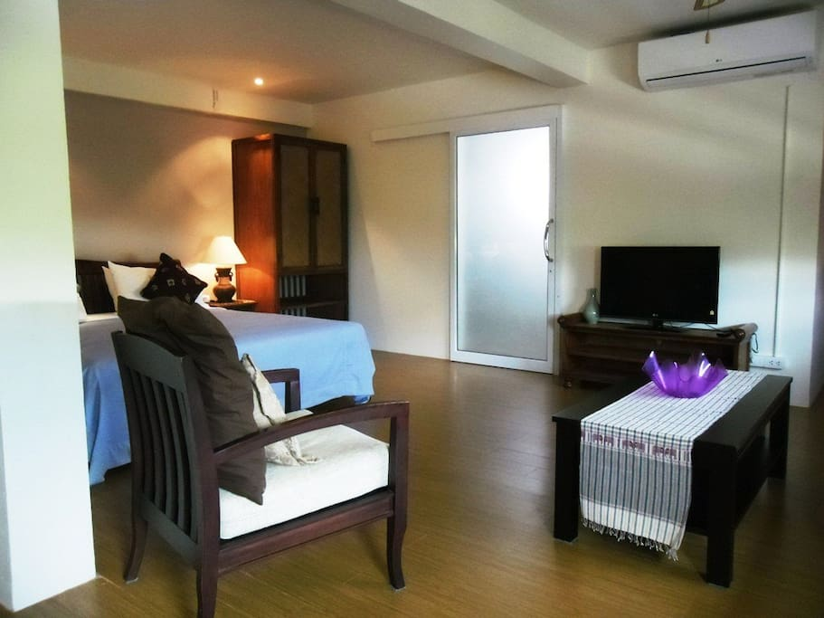 Our suites are spacious and the furnishings hand made in Chiang Mai.
