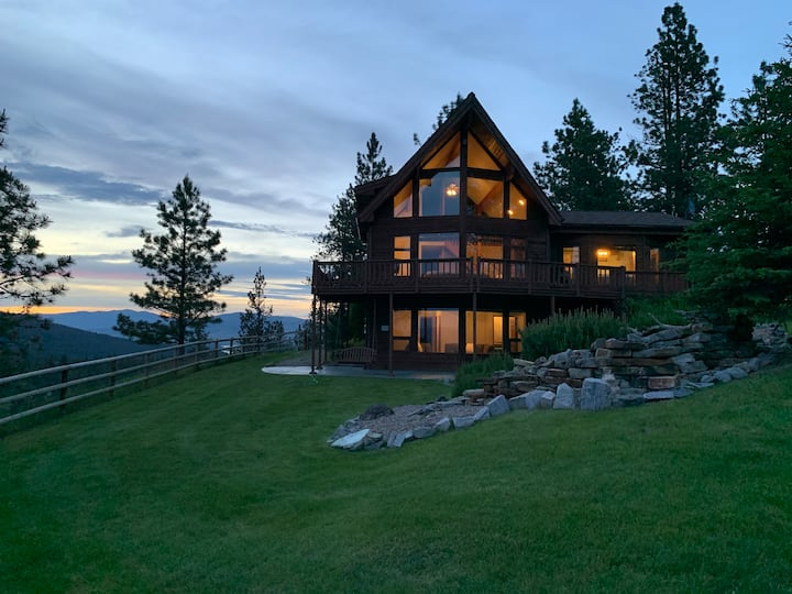 Top of the world cabin at Flathead Lake