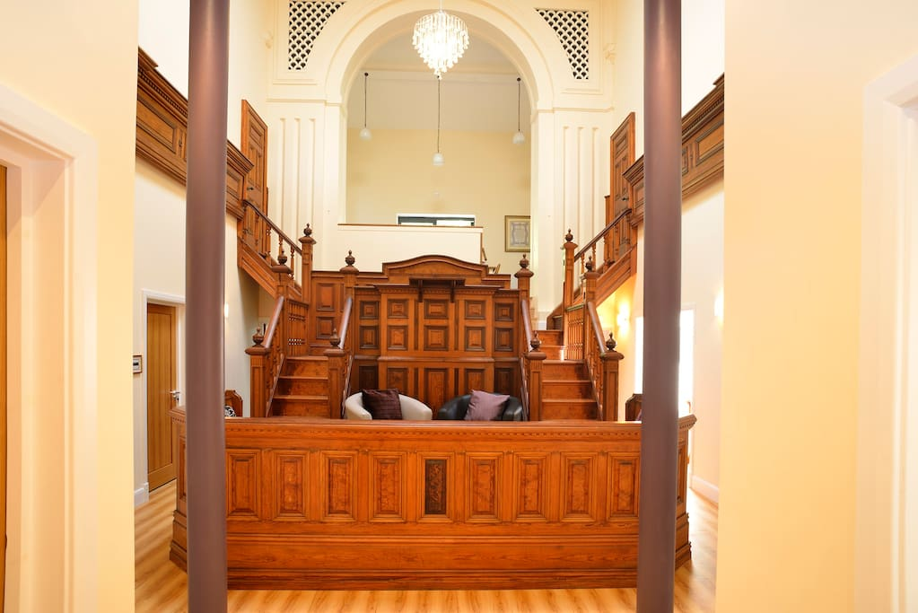 Pulpit and seating area