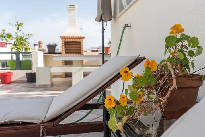 Top appartement met dakterras in Ferragudo centrum