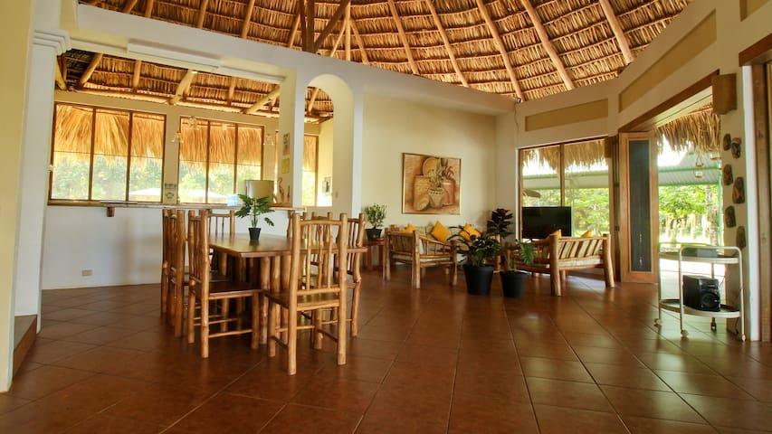 Este es el área social de la casa. Es muy acogedor, amplio y fresco.