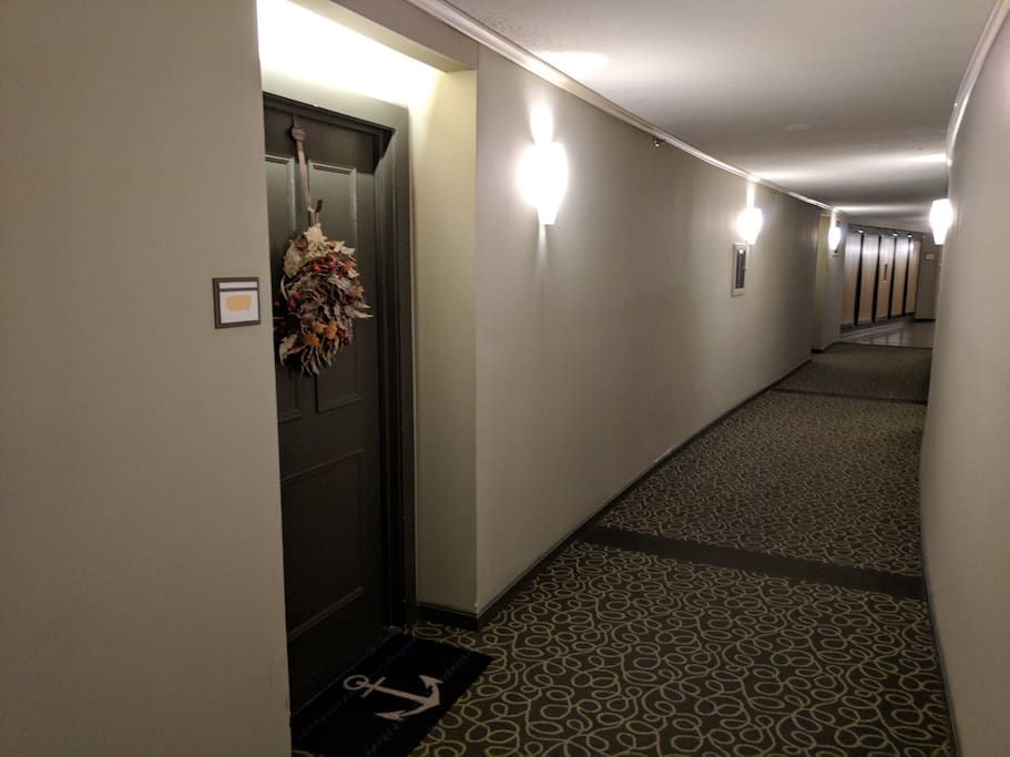 Hallway outside our 2nd floor apartment.